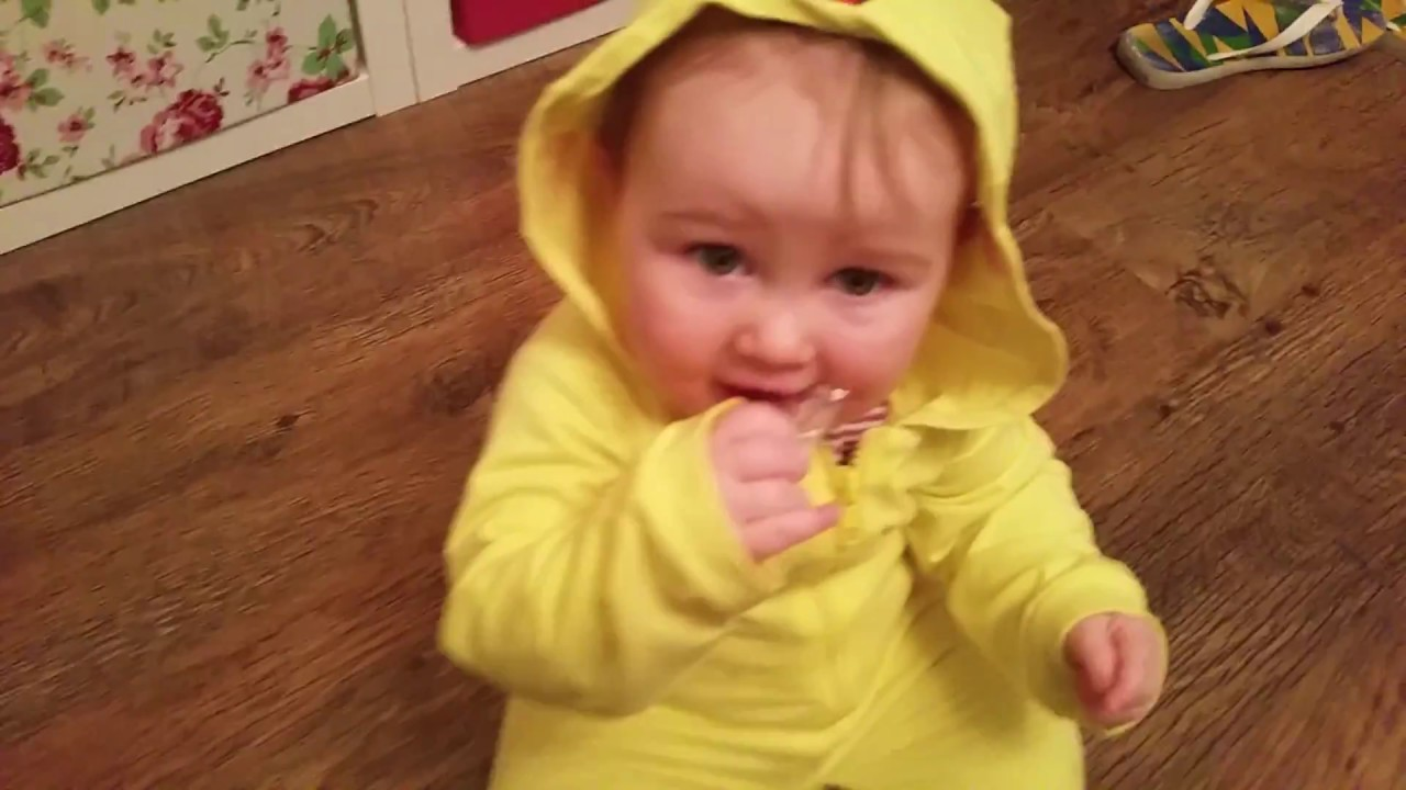 olwen in a cute baby pikachu costume - pokemon costume - baby