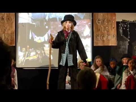 9 year old girl reviewing the situation - School play of Oliver