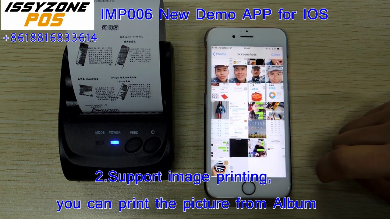 IMP006 58mm Bluetooth printer demo APP support IOS (APP store search
