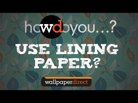 How to hang lining paper