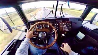 La Vista de un Trailero Manejando un Kenworth T600 en las carreteras de USA 🇺🇸 Simplemente Bello😍