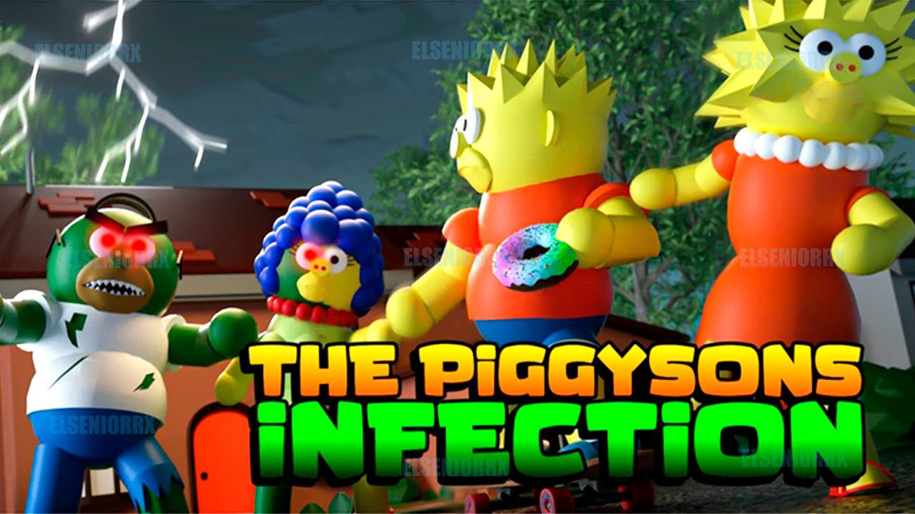 PIGGY EN LOS SIMPSONS THE PIGGYSOMPS ~ Piggy Roblox ~ ELSENIORRX ROBLOX