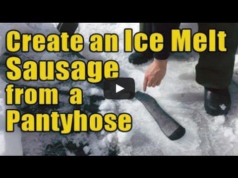 Create An Ice Melt Sausage