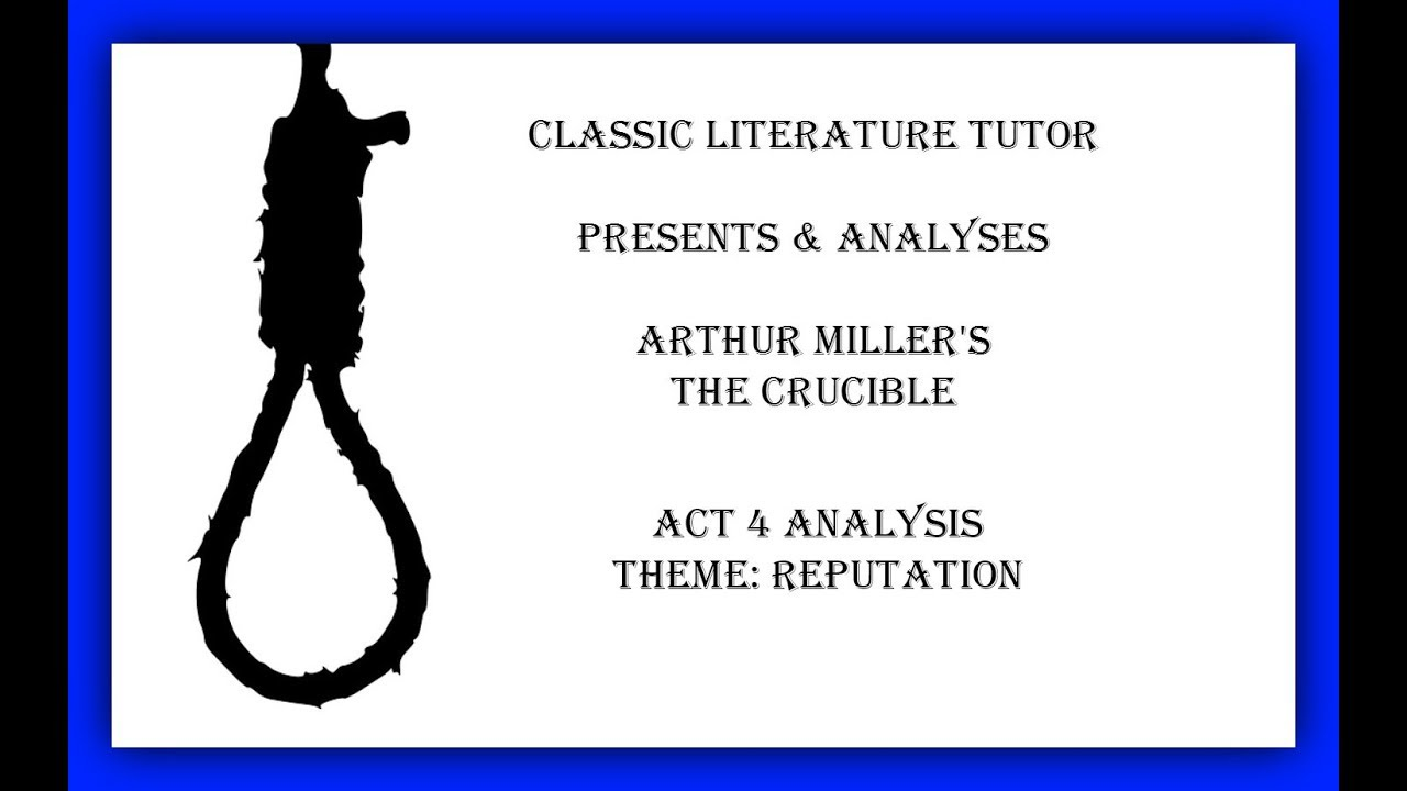 an analysis of the consequences of lying in arthur millers play the crucible The crucible the crucible was a play written in 1953 by arthur miller book review on the crucible.