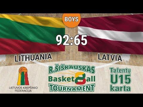 R. Šiškauskas Tournament 2017: Lithuania vs Latvia (Boys)