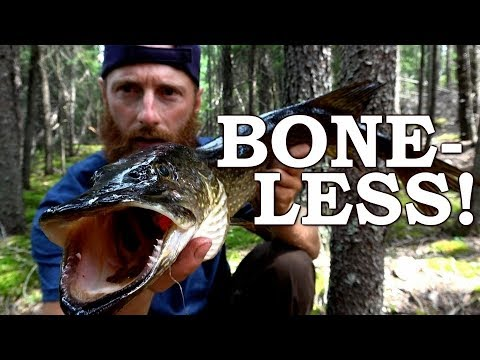 How to CLEAN PIKE 100% DE-BONED! | Cooking Super Crispy DIRTY Pike in CHIPS Ep10