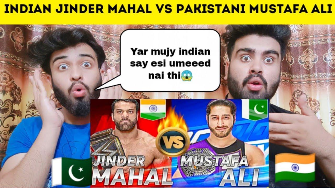 Comparison Between Indian Jinder Mahal and Pakistani Mustafa Ali Reaction By|Pakistani Bros Reacts|