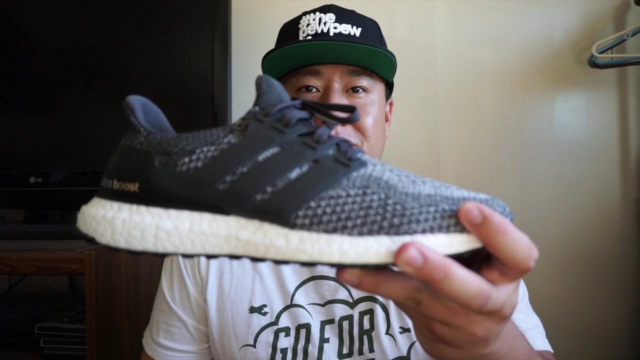 designer fashion a7145 6c718 Adidas Ultra Boost Dark Grey Wool w On Feet!!!! - YouTube