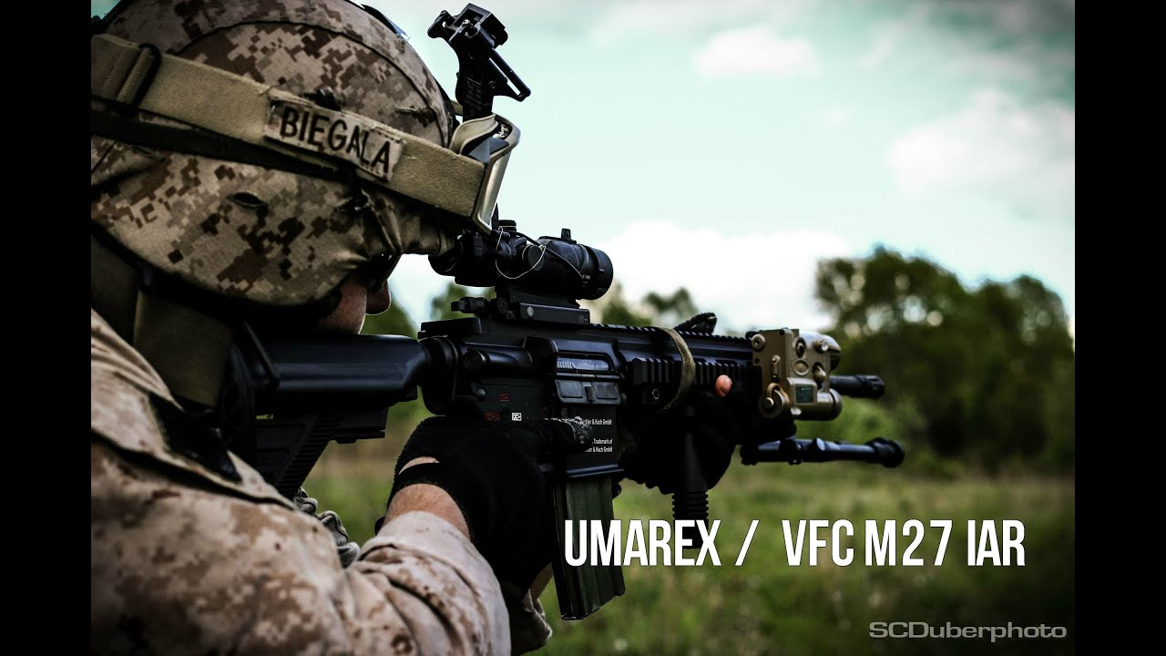 Gunfire Scdtv Umarex Vfc M27 Iar Aeg Airsoft Review Youtube