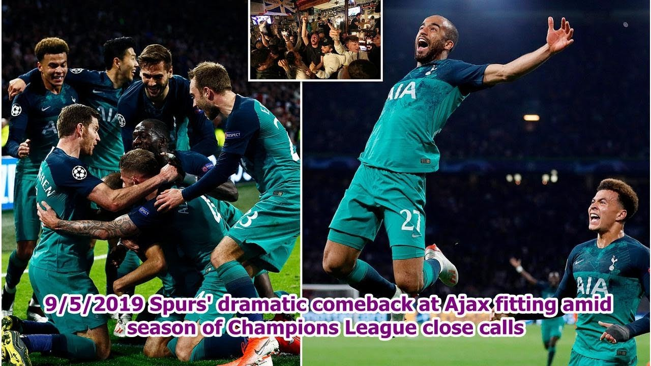 Spurs' dramatic comeback at Ajax fitting amid season of Champions League close calls