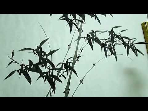 How to Paint bamboo in Chinese ink painting