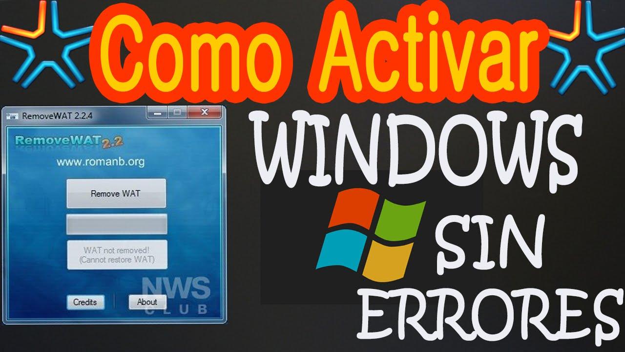 Como Quitar Mensaje Esta Copia De Windows No Es Original Remove Wat Hd Youtube