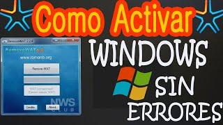 """Como Quitar Mensaje """"Esta Copia De Windows No Es Original"""" Remove Wat 2017 HD"""
