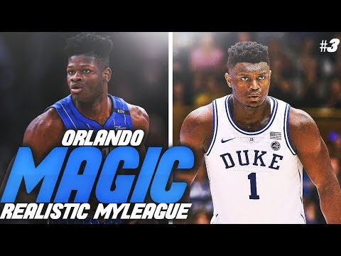 ZION DOMINATES IN DEBUT?! 2019 SEASON OPENER! NBA 2K19 ORLANDO MAGIC REALISTIC MYLEAGUE #3