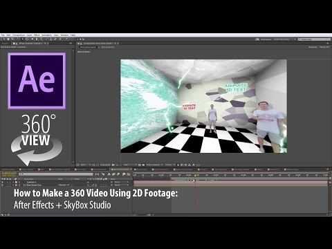How to Make a 360 Video Using 2D Footage | After Effects | SkyBox Studio