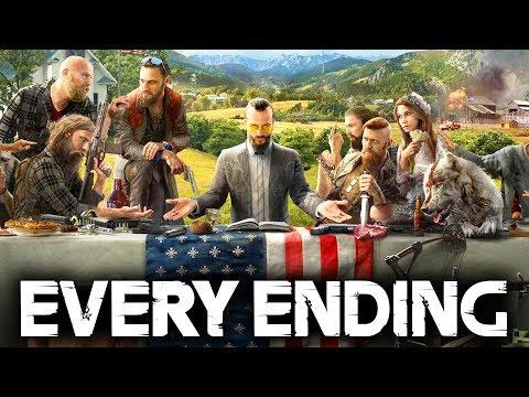 Far Cry 5 EVERY ENDING (Secret Ending Good & Bad Ending) Resist & Walk Away