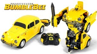 Transformers Movie 2018 Bumblebee Remote Control Bumblebee Vehicle  Robot Toy