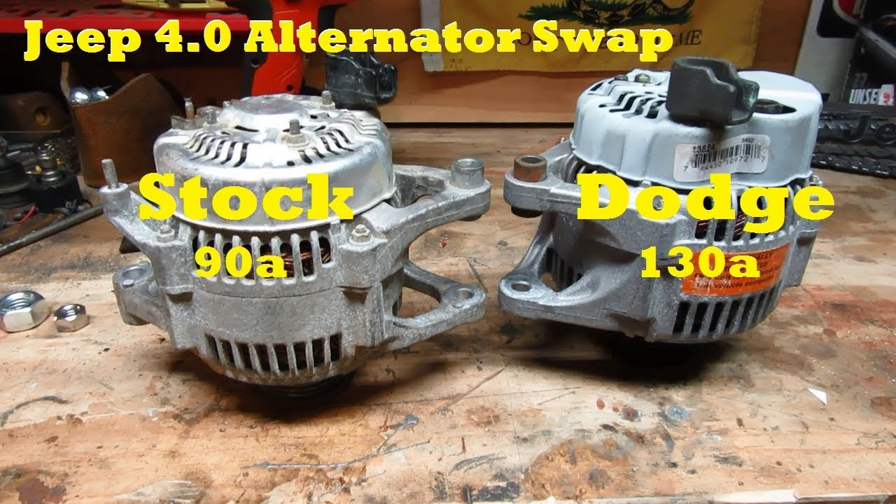 35 Jeep 40 Alternator Upgrade Stock 90 Amp To Dodge 130 Tj Subwoofer 8 Wire Diagram