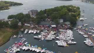 Lake of the Ozarks Aquapalooza 2014 from the air