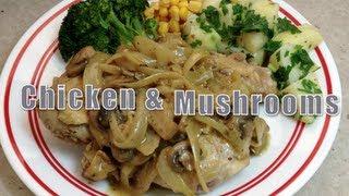 Chicken & Mushroom Cream Sauce Video Recipe Cheekyricho