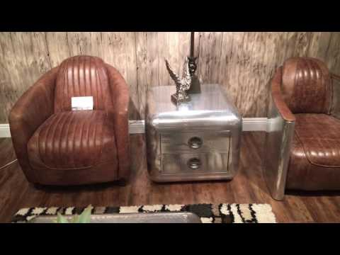 Top Grain Leather & Metal Sofa set 53545