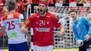 HANDBALL DENMARK - NORWAY. Preliminary round. IHF World Men's Championship 2019