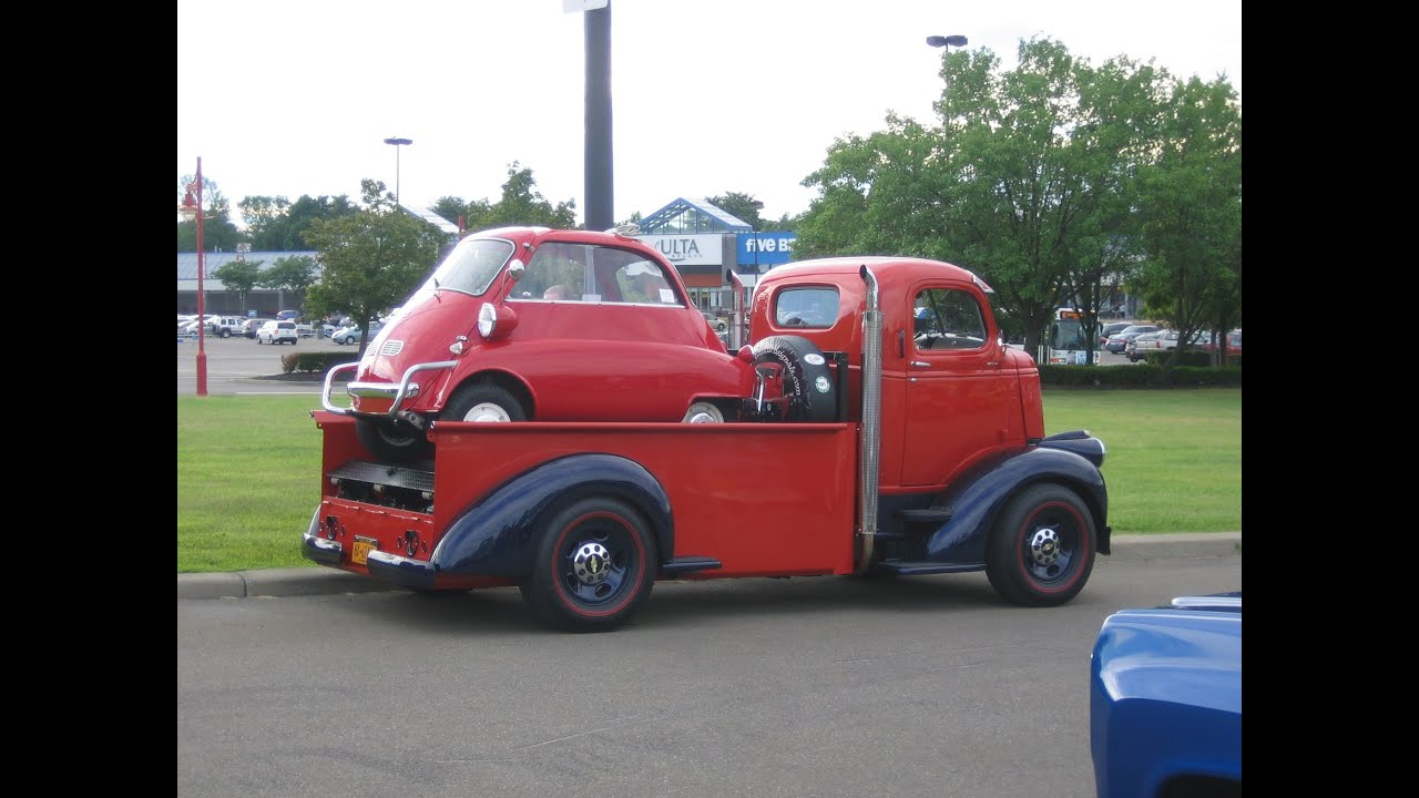Chevy COE BMW Isetta Hauler - YouTube
