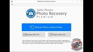 Recover files using Stellar Phoenix Photo Recovery Software