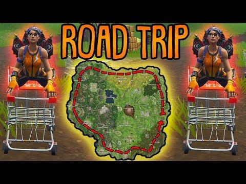ROAD TRIP CHALLENGE! | (einmal um die komplette Karte) | Fortnite Battle Royale