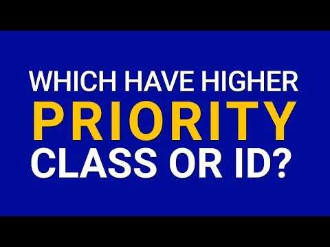 Which one have higher priority class or ID? | web design tutorial thumbnail