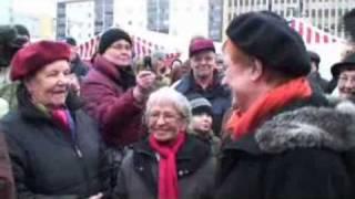 Pori 450 vuotta: Tarja Halosen syntymäpäivävierailu Porin torilla
