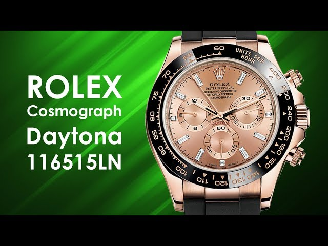 Rolex Cosmograph Daytona 116515LN Watch - video by Big Watch Buyers
