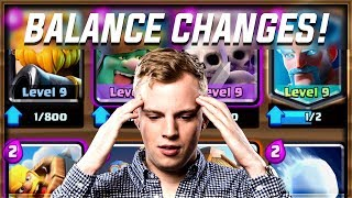 Clash Royale - NEW BALANCE CHANGES! Let's Review