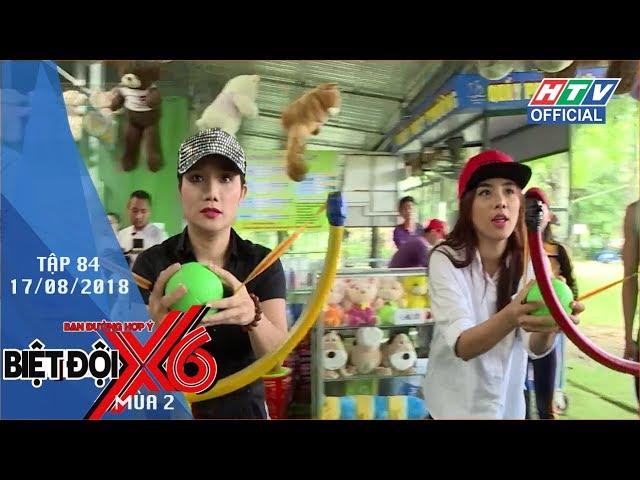 HTV BIỆT ĐỘI X6 | Sĩ Thanh, Xuân Phúc giả ninja chơi phóng phi tiêu | BDX6 #84 FULL | 17/8/2018