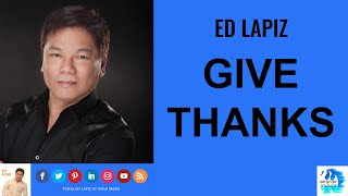 🆕ed Lapiz Latest Sermon👉 Review EdLapiz NewVideo👉 Ed Lapiz Official Channel2020 Ed Lapiz-GIVE THANKS