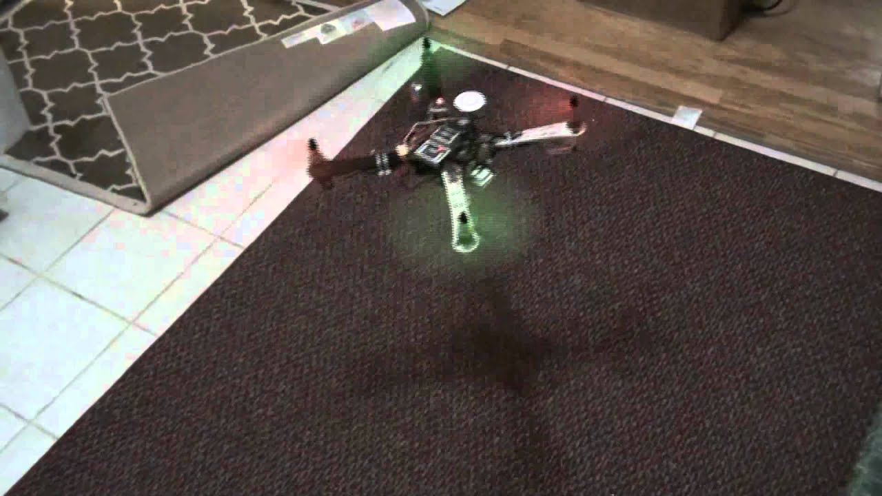 dji wk m on f450 frame indoors 6 foot x 6 foot area