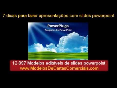 Видео Exemplos de apresentações em power point