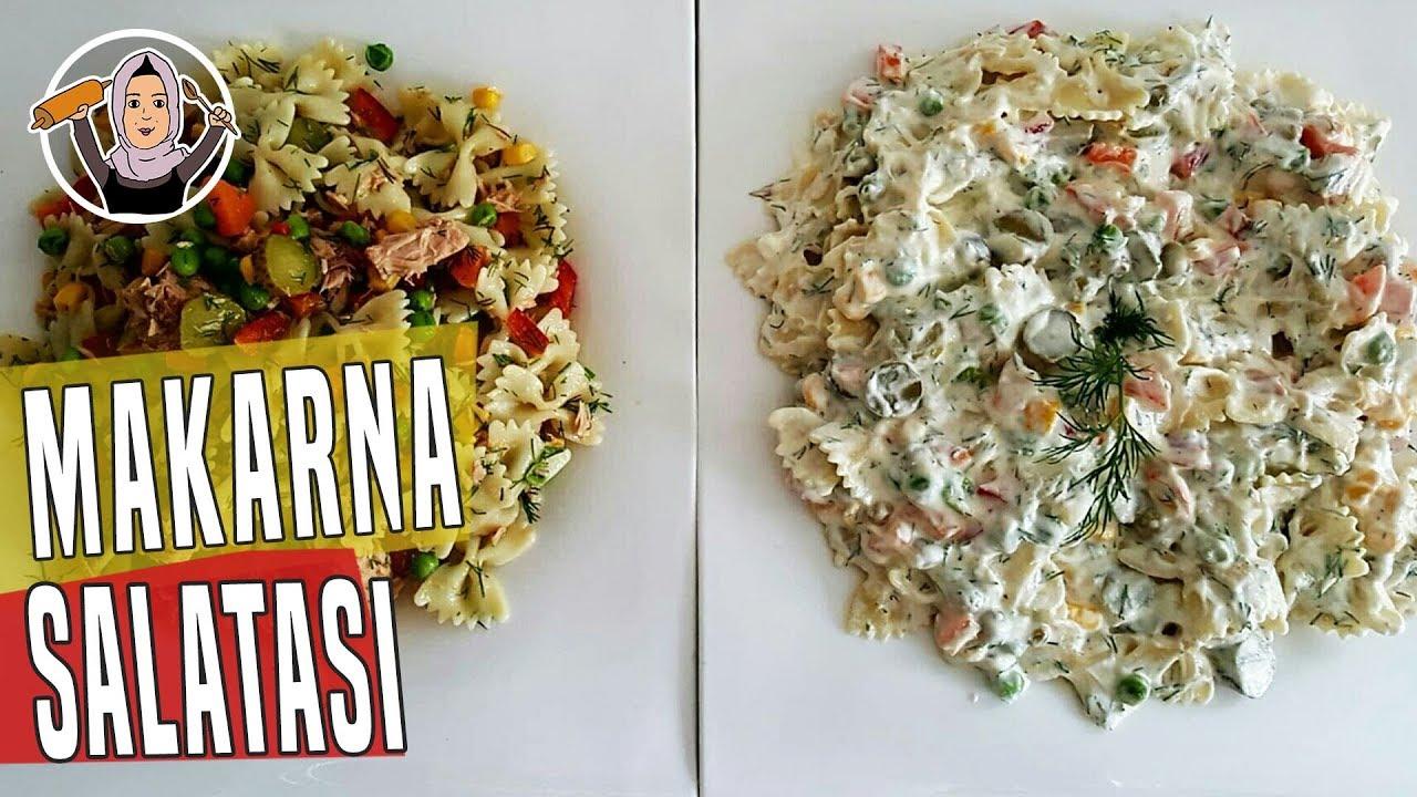Makarna salatası nasıl yapılır - Yoğurtlu sebzeli makarna salatası tarifi - Salata tarifleri