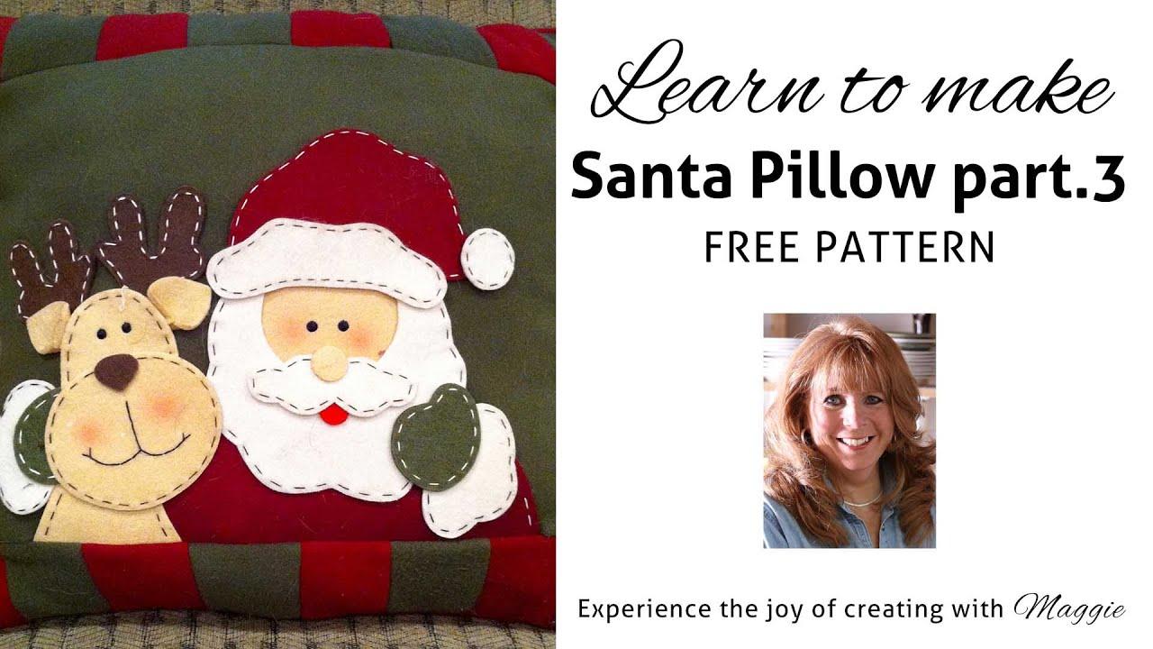 Crochet Santa Pillow FREE Pattern - Part 3 - YouTube