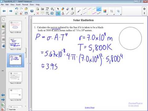 Emissivity and the Solar Constant 1