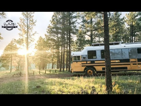 Headed To Flagstaff AZ - How I Find Free Accessible Camping For The School Bus Conversion