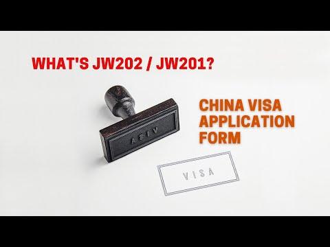 What's JW202 / JW201?   China Visa Application Form