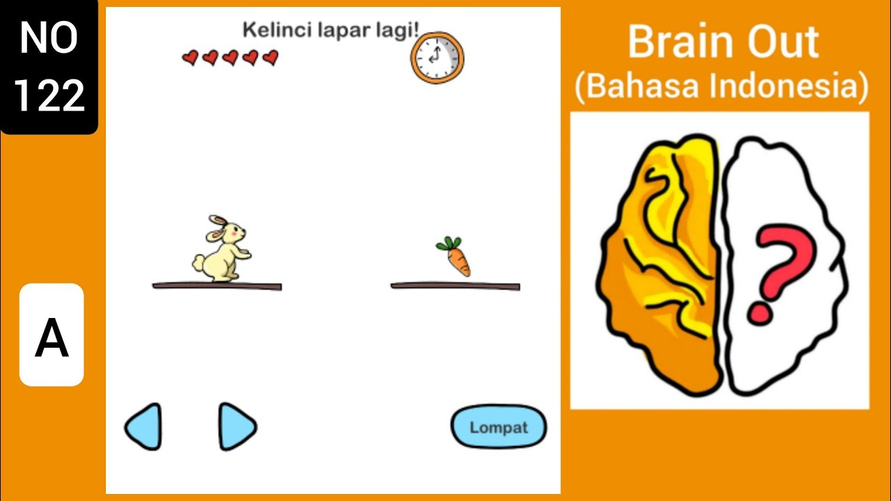 Brain Out Level 122 Kelinci Lapar Lagi