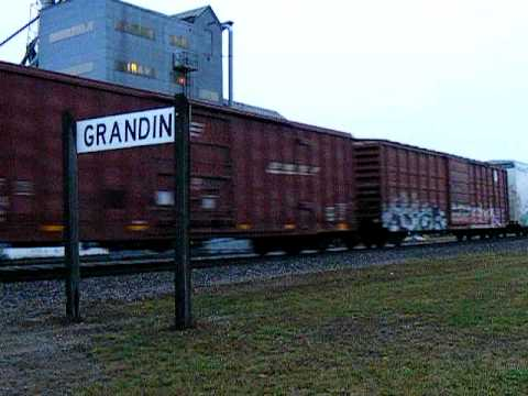 166 Car Freight Train Grandin North Dakota.