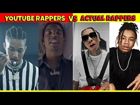 YOUTUBE RAPPERS VS ACTUAL RAPPERS 🔥 - YouTube