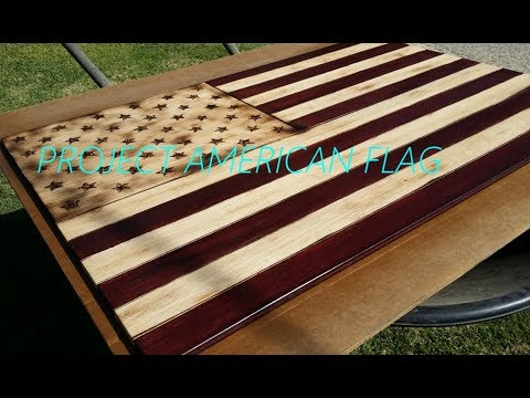 PROJECT AMERICAN FLAG WOODEN