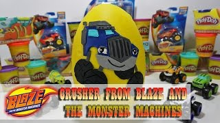 Giant Play Doh Egg! Crusher from Blaze and the Monster Machines