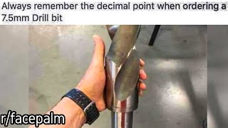 r/facepalm | thats the wrong drill bit bro..
