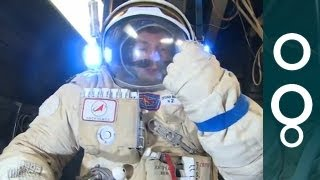 Trying On a Real Space Suit