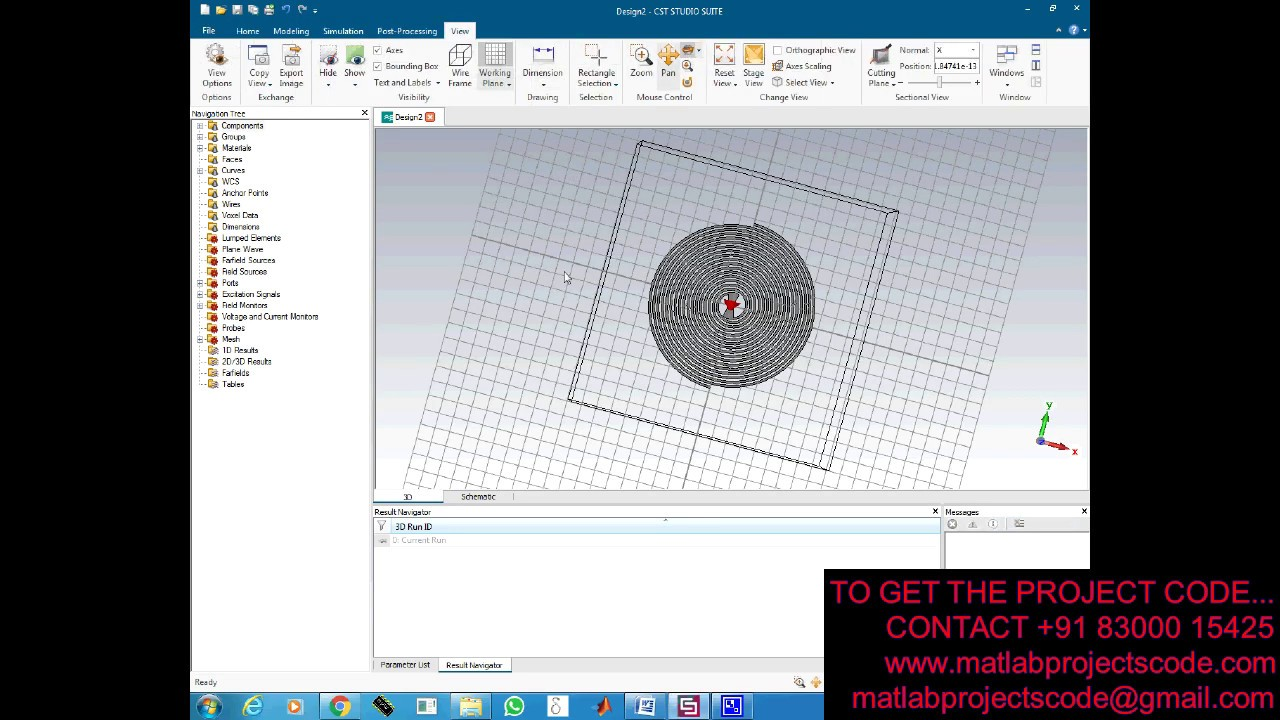 Antenna Design For Wideband Spiral Antenna Used For Unmanned Aerial Vehicle Cst Youtube
